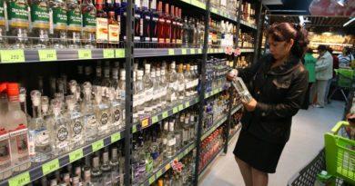 Angebot an alkoholischen Getränken in Geschäften
