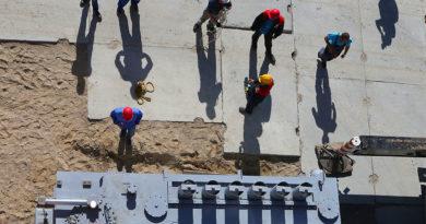 Arbeitsmigranten auf Baustellen