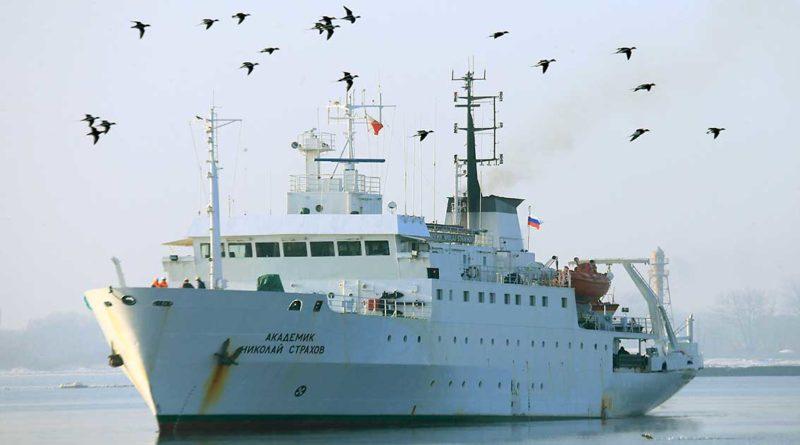 Forschungsschiff untersucht Küstengewässer