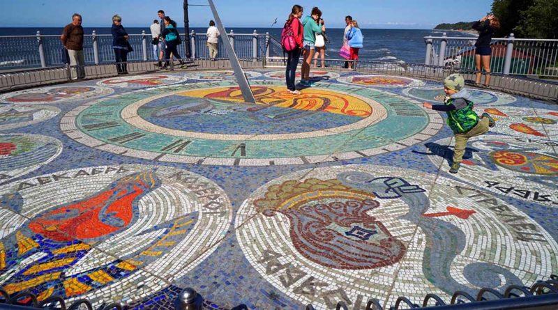 """Mosaike in Rauschen:  Sonnenuhr und """"Muschel"""""""